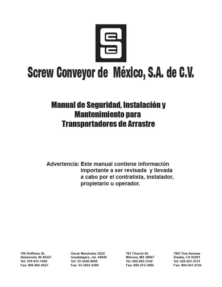 MANUAL DE SEG. INST. Y MANTTO. TRANSPORTADORES DE ARRASTRE